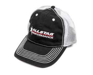 Allstar Hat Black with White Mesh Velcro Closur