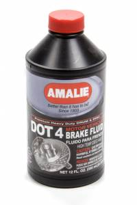 AMALIE #AMA65041-92 DOT 4 Brake Fluid 12 Oz