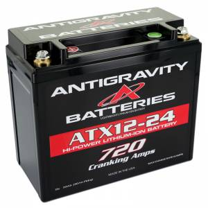 ANTIGRAVITY BATTERIES #AG-ATX12-24-R Lithium Battery 720CCA 12Volt 4.5Lbs 24 Cell