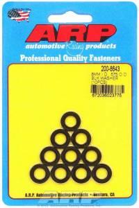 ARP #200-8643 Black Washers - 8mm ID x .575 OD (10)