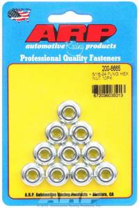 ARP #200-8665 Hex Serrated Flange Nuts 5/16-24 (10)