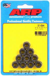 ARP #301-8344 Hex Nut Kit w/Flange 5/16-18 (10pk)