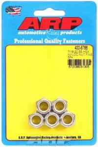 ARP #400-8766 S/S 6pt. Fine Nyloc Nuts - 7/16-20 (5)