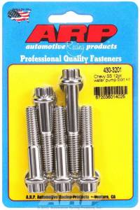 S/S Water Pump Bolt Kit Chevy 12pt.