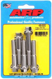 ARP #430-3202 S/S Water Pump Bolt Kit Chevy 6pt.