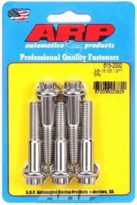 ARP #615-2000 S/S Bolt Kit - 12pt. (5) 3/8-16 x 2.000