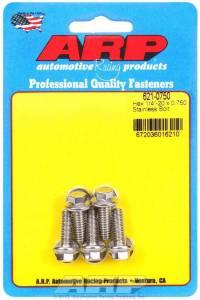 ARP #621-0750 S/S Bolt Kit - 6pt. (5) 1/4-20 x .750