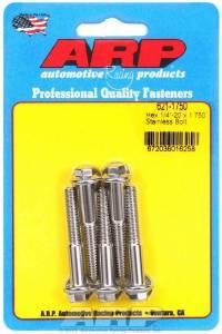 ARP #621-1750 S/S Bolt Kit - 6pt. (5) 1/4-20 x 1.750