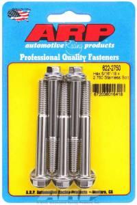 ARP #622-2750 S/S Bolt Kit - 6pt. (5) 5/16-18 x 2.750