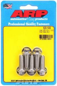 ARP #623-1000 S/S Bolt Kit - 6pt. (5) 3/8-16 x 1.000
