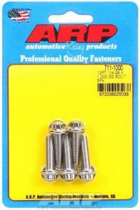 ARP #711-1000 S/S Bolt Kit - 12pt. (5) 1/4-28 x 1.000