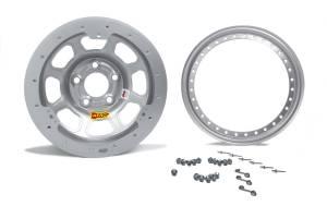 AERO RACE WHEELS #33-084520S 13x8 2in. 4.50 Silver Beadlock Wheel