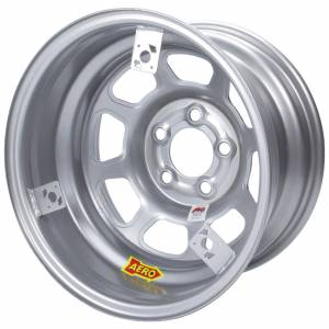 AERO RACE WHEELS #52-085020T3 15x8 2in 5.00 Silver w/ 3 Tabs for Mudcover