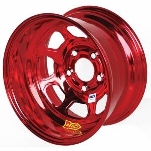 AERO RACE WHEELS #52-984730RED 15x8 3in 4.75 Red Chrome