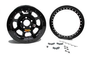 AERO RACE WHEELS #53-100530B 15X10 3in Wide 5 Black Beadlock