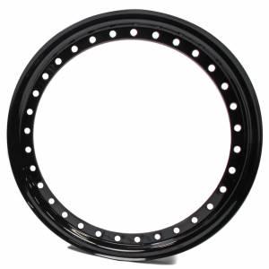 AERO RACE WHEELS #54-500023 15in Outer Bead Lock Ring Black