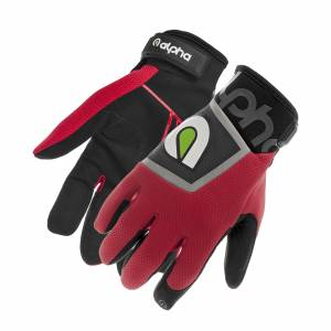 ALPHA GLOVES #AG02-02-S Standard Mechanic Red Small
