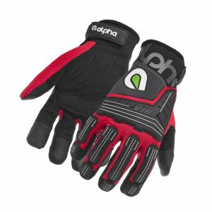 ALPHA GLOVES #AG03-02-L VIBE Impact Red Large