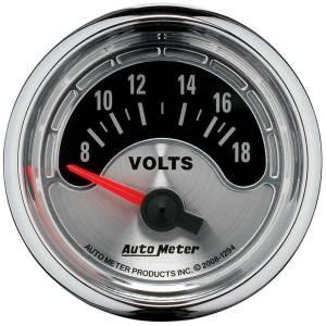 AUTO METER #1294 2-1/16 A/M Voltmeter Gauge 8-18