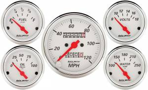 AUTO METER #1300 Arctic White Gauge Kit