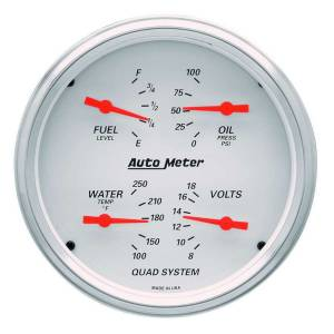 AUTO METER #1303 5in A/W Quad Gauge Kit