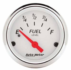AUTO METER #1317 White Fuel Level Gauge