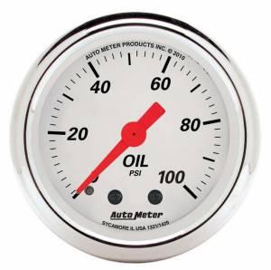 AUTO METER #1321 2-1/16 A/W Oil Pressure Gauge 0-100psi
