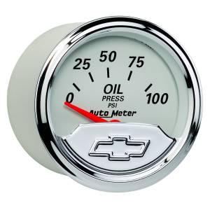 AUTO METER #1327-00408 2-1/16 Gauge Oil Press 100psi Chevrolet