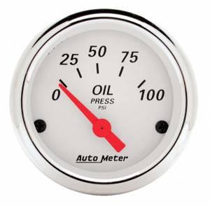 AUTO METER #1327 White Oil Pressure 0-100
