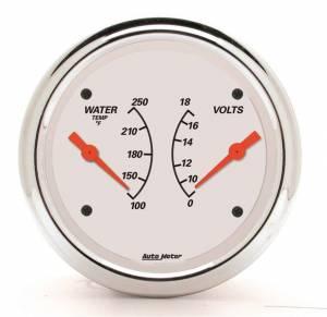 AUTO METER #1330 3-3/8 A/W Water Temp/ Voltmeter Gauge