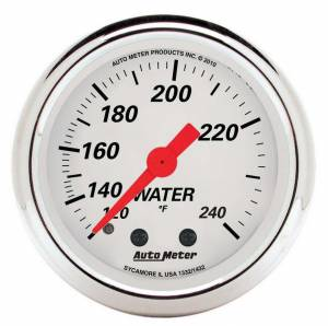 AUTO METER #1332 2-1/16 A/W Water Temp Gauge 120-240 Degrees