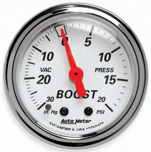 AUTO METER #1372 Artic White Boost/Vacuum Gauge