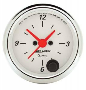 AUTO METER #1385 2-1/16in A/W Clock
