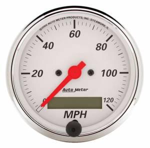 AUTO METER #1388 Arctic White 3-1/8in 120 MPH Speedometer