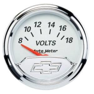 AUTO METER #1391-00408 2-1/16 Voltmeter Gauge Chevy Bowtie Series