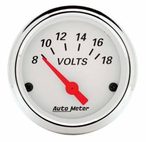 AUTO METER #1391 Arctic White Voltmeter