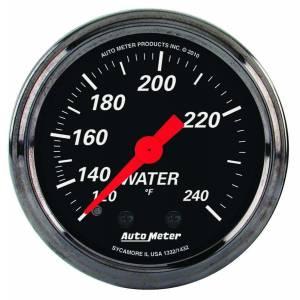 AUTO METER #1432 2-1/16 D/B Water Temp Gauge 120-240 Degrees