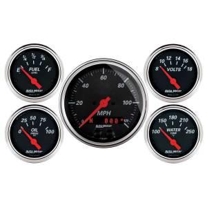 AUTO METER #1450 Designer Black Gauge Kit w/GPS Speedo