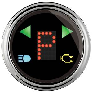 AUTO METER #1460 2-1/16 Gauge PRNDL+ Black Face Chrome Bezel