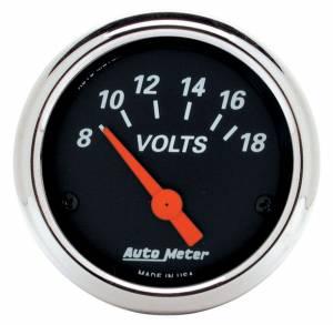 AUTO METER #1483 2-1/16 D/B Voltmeter Gauge 8-18