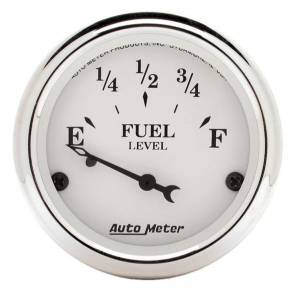 AUTO METER #1605 Old Tyme White 2 1/16in Fuel Gauge Ford