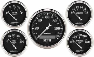 AUTO METER #1709 O/T/B 5-Piece Gauge Kit