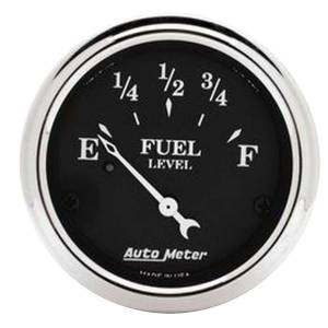 AUTO METER #1717 2-1/16 O/T/B Fuel Level Gauge - Ford
