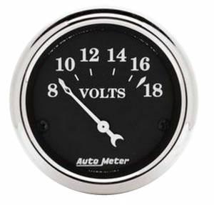 AUTO METER #1791 2-1/16 O/T/B Voltmeter Gauge