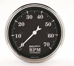 AUTO METER #1798 3-1/8 O/T/B Tach - 7000 RPM