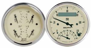 AUTO METER #1820 3-3/8in A/B Quad/Speedo/Tach Combo