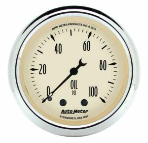 AUTO METER #1821 2-1/16 A/B Oil Pressure Gauge 0-100 PSI