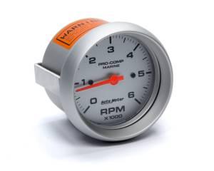AUTO METER #200752-33 3-3/8 U/L Tachometer 6000 RPM