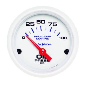 AUTO METER #200758 2-1/16 Oil Pressure Gauge 0-100 PSI