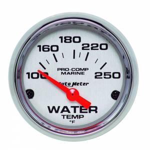 AUTO METER #200762-35 2-1/16 Water Temp Gauge 100-250F P/C Marine